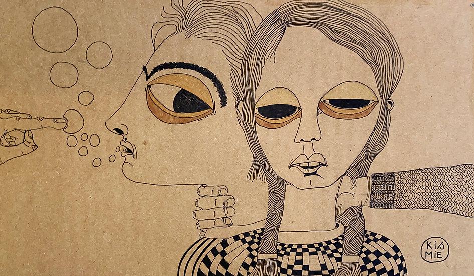 Mieke Daneels original work on panel buy art