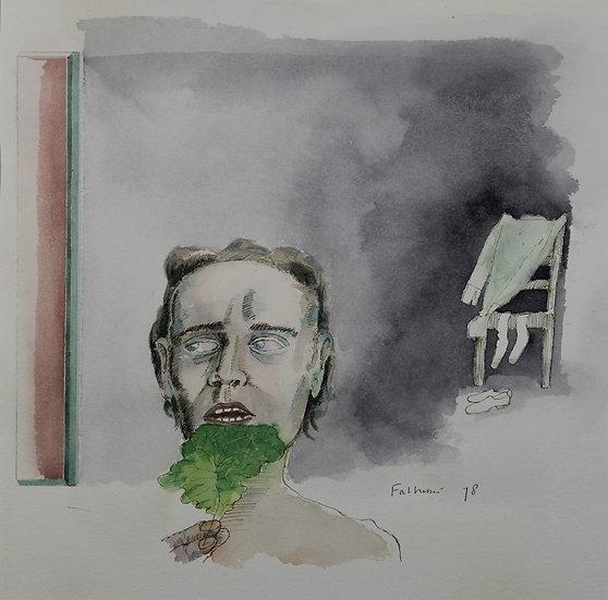 Falhaber, W. - Original watercolor 'Spiegel'