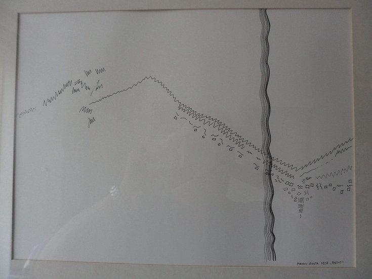 Henny Gusta van den Berg - Pen Drawing 'Retat'