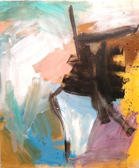 Davide Tedeschini - Il Fiore Nero - Original work on panel