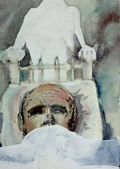 Falhaber, W. - Original watercolor 'Koorts'