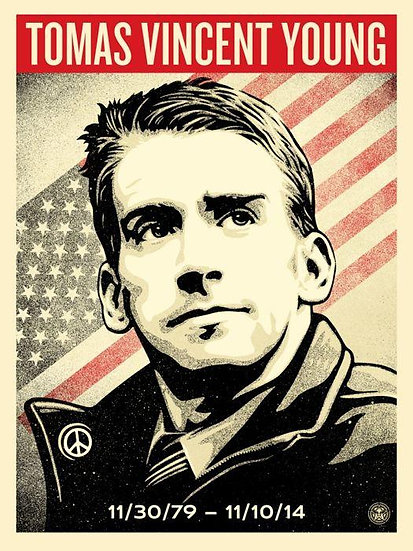 Shepard Fairey (OBEY) - Tomas Young Tribute - signed limited print