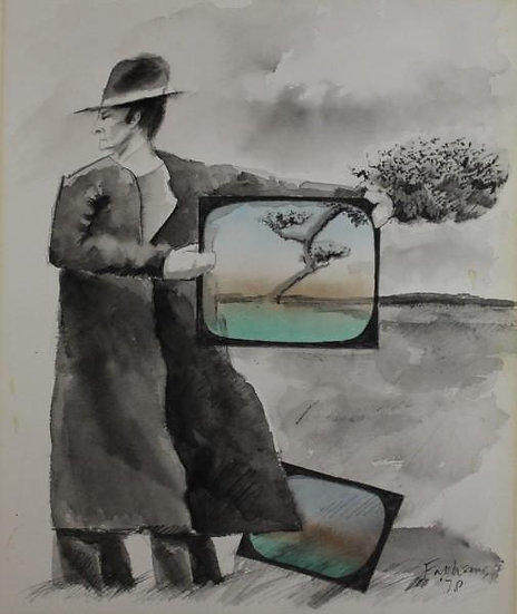 Falhaber, W. - Original watercolor 1978