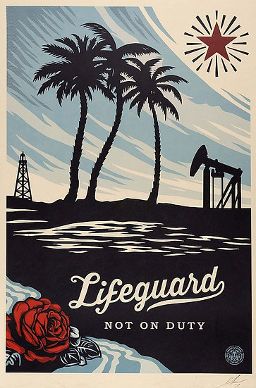 Obey Shepard Fairey buy art online Lifeguard not on Duty signed print gallery affordable art europe belgium