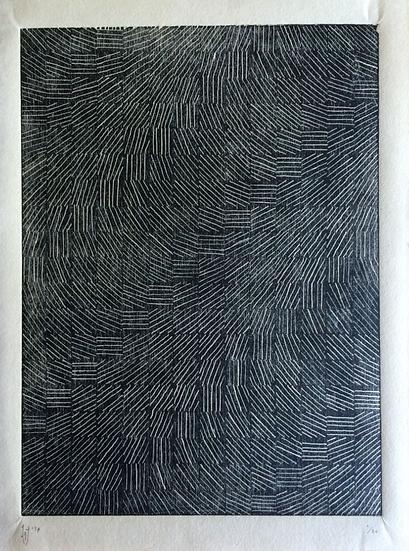 Laurence Jordan - Lines In Dervish (2017) - Woodcut