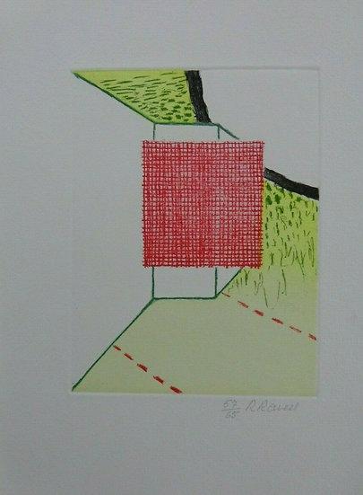 Roger Raveel Etching Color Hand signed Buy art Online Affordable art Europe Belgium