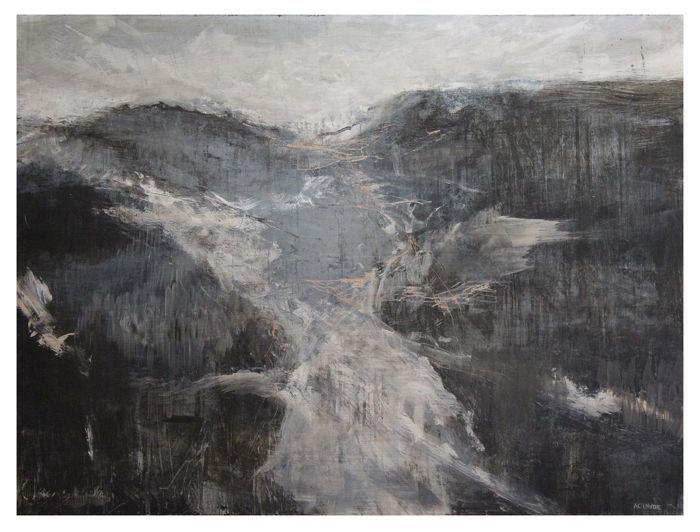 Alex Claude - Le lac - Acrylic on panel