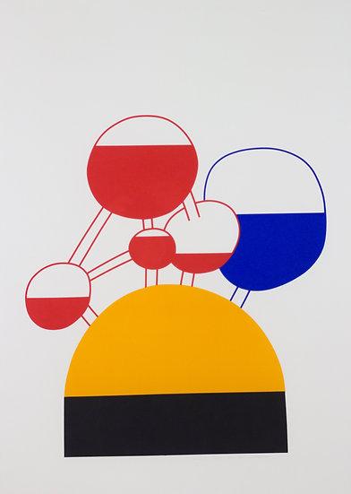 Luc Van Malderen - Signed lithograph 'Atom'