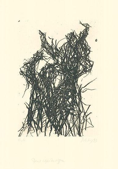 Max Uhlig - Deux ceps de vigne - Signed limited etching EA edition