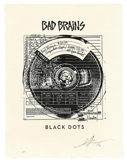 Shepard Fairey (Obey) - Bad Brains Black Dots - Signed and numbered print