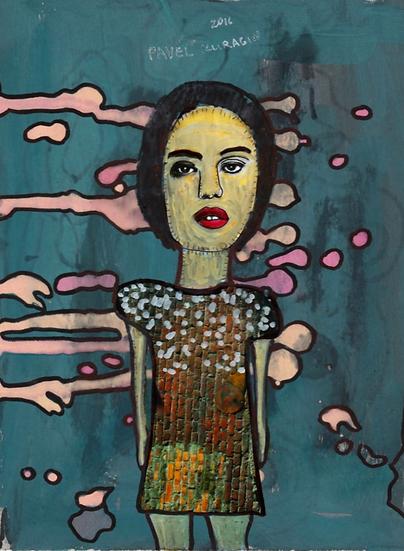 Pavel Kuragin - Collage 'Aquarium Girl'