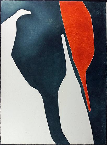 Gilou Brillant - Untitled, Carborundum Etching