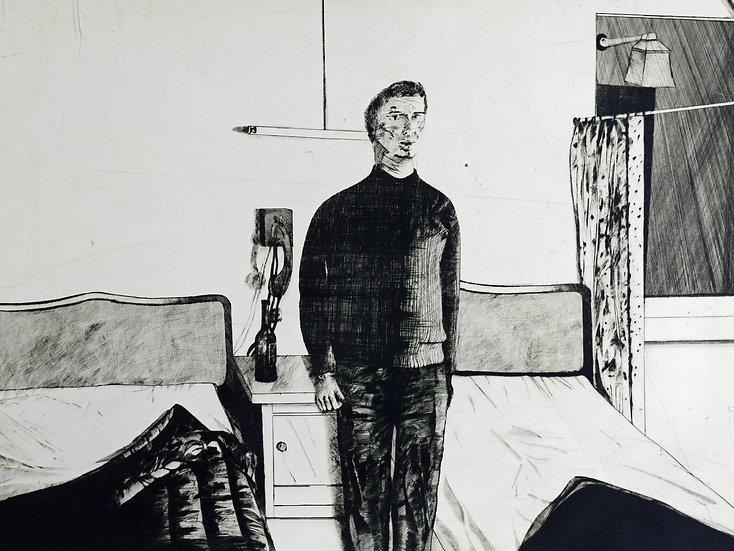 Kees Spermon - 'Hotelkamer Parijs' - 1968 Hand Signed Etching