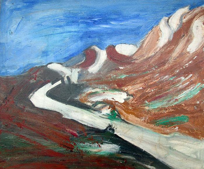 Paolo Ambrosio - 'Paesaggio' Acrylic on Canvas