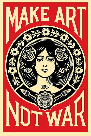 Obey Shepard Fairey buy art online Make Art Not War offset poster signed print gallery affordable art europe belgium