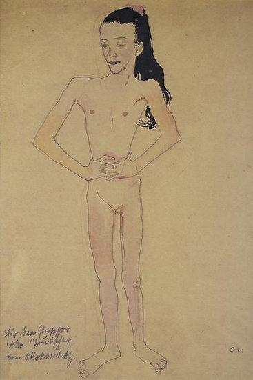 Oskar Kokoschka - Stehendes Mädchen (1907), Ausgabe 1964