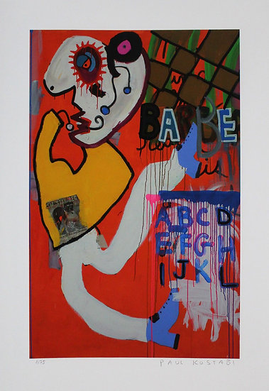 Paul Kostabi - Print - Signed and numbered in pencil