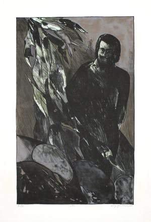 Wolff Buchholz - Mann mit vegetativer Figur - Signed and numbered