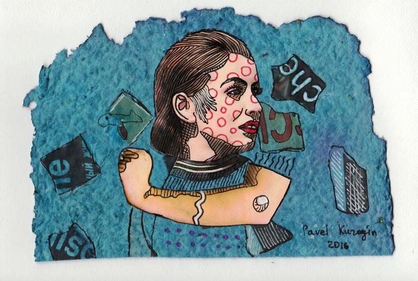 Pavel Kuragin - Collage 'Brave Woman'