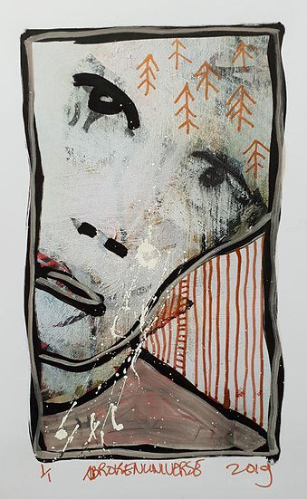 A Broken Universe Wear my Face Original Signed and dated Buy art Online Affordable art Europe Dutch