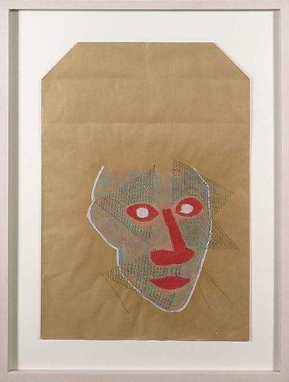 Dirk Celis mixed media collage signed buy art online gallery affordable art europe belgium
