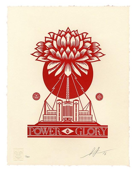 Shepard Fairey (Obey) - Power and Glory - signed and numbered limited print