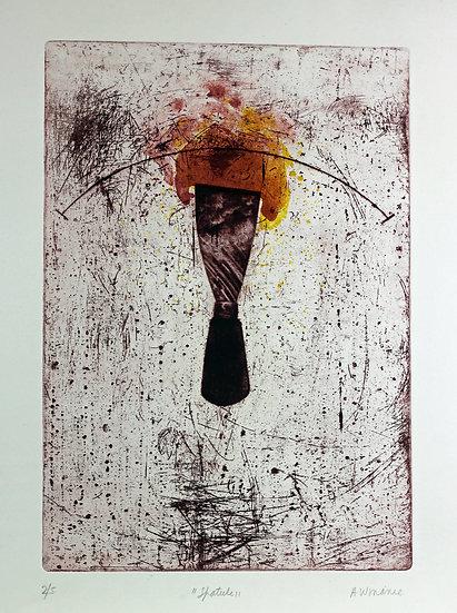 A.W. Manie - Spatule Lithograph - Hand signed - 2/5