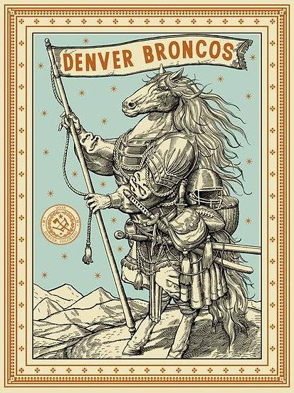 Ravi Zupa - 'Denver Broncos' Print