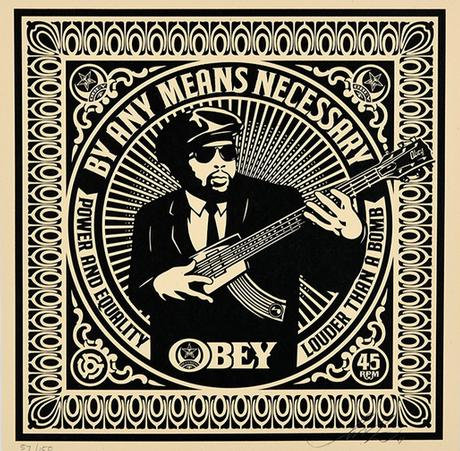 Obey Shepard Fairey Buy art online By Any Means Necessary Screen Signed print Gallery Affordable art Europe Belgium