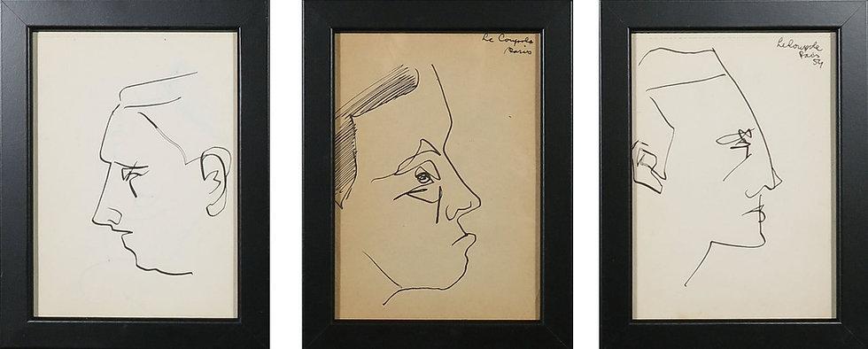 Siep van den Berg 3 drawings Pen ink Buy art Online Affordable art Europe Dutch Belgium