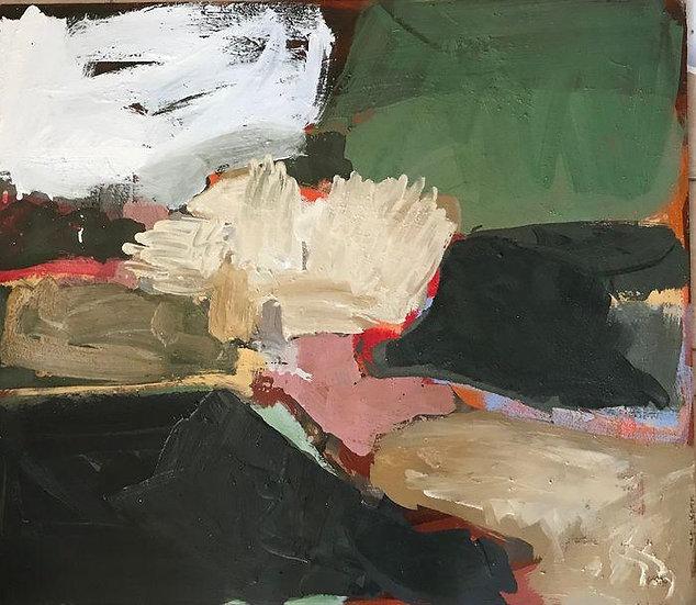 Davide Tedeschini - Villaggio in fondo alla valle - Original work on panel