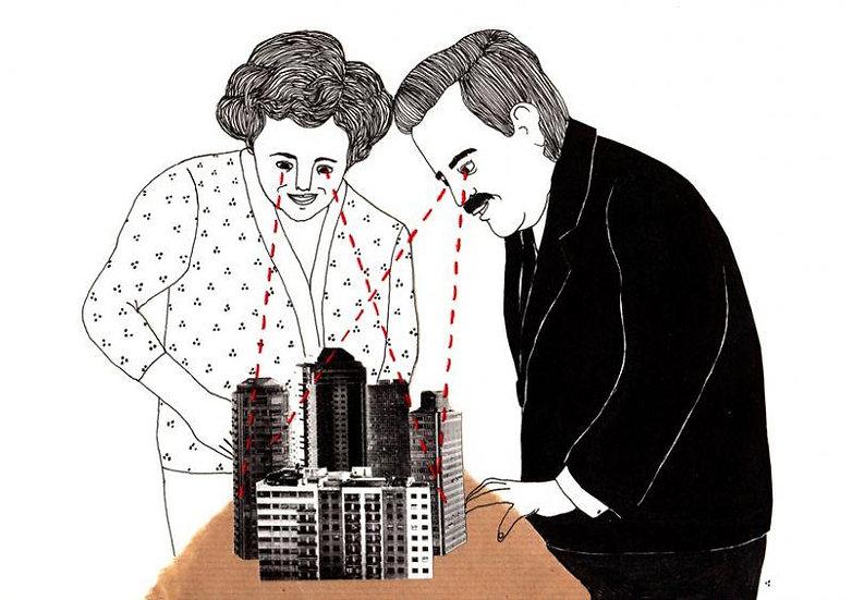 Elisa Munsó - La ciudad en nuestras manos - Signed print