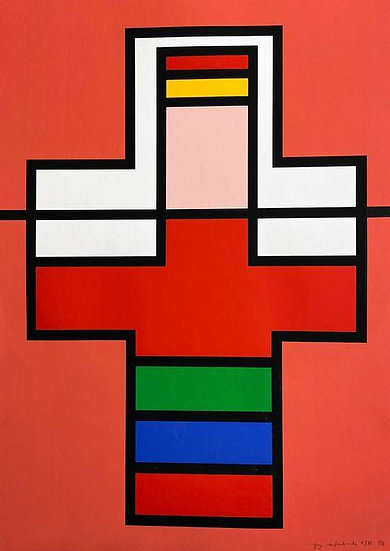 Guy Vandenbranden - Geometric Abstraction - signed and numbered print