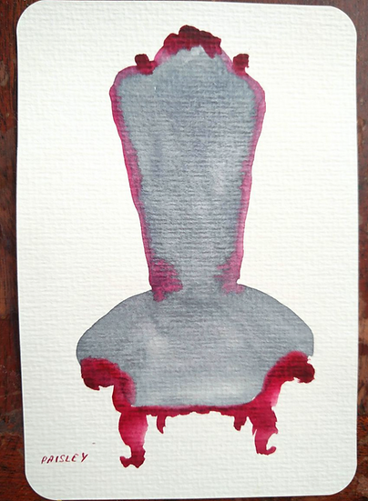 Ayna Paisley Watercolor sketches of chairs Buy art online Gallery Affordable art Europe Belgium