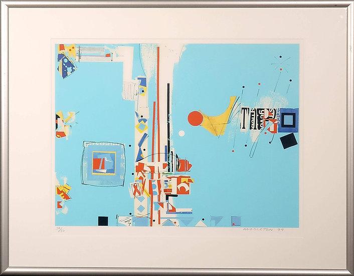 Sam Middleton (1927-2015) - Silk-screen Print, Harmonics