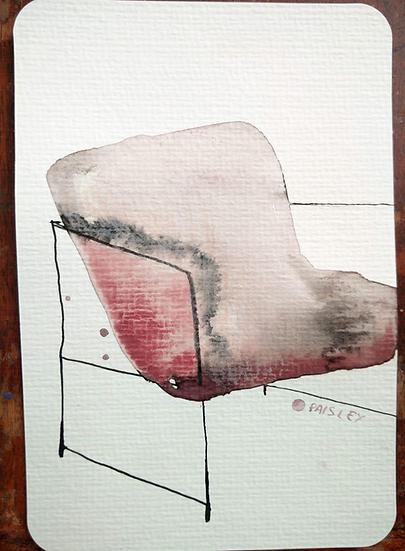 Ayna Paisley - original watercolor 11 (free delivery in EU)