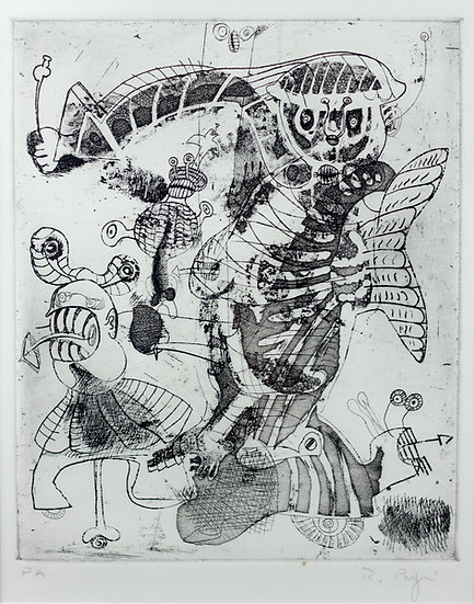 Riccardo Pagni hand signed etching buy art online Europe affordable