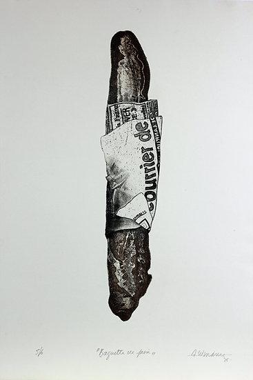 A.W. Manie - Baguette de pain Lithograph - Hand signed - 5/6