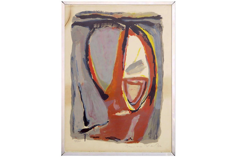 Bram Van Velde - Abstract Composition - signed and numbered print