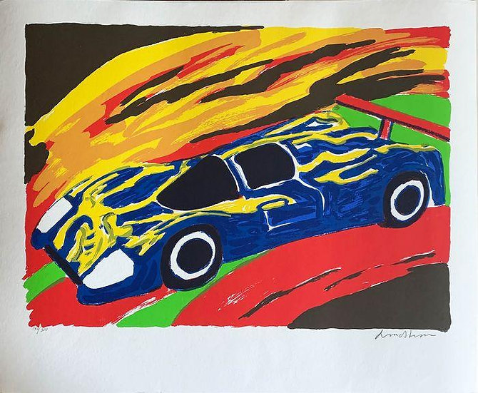 Bengt Lindstrom - Supercar - Signed and numbered print
