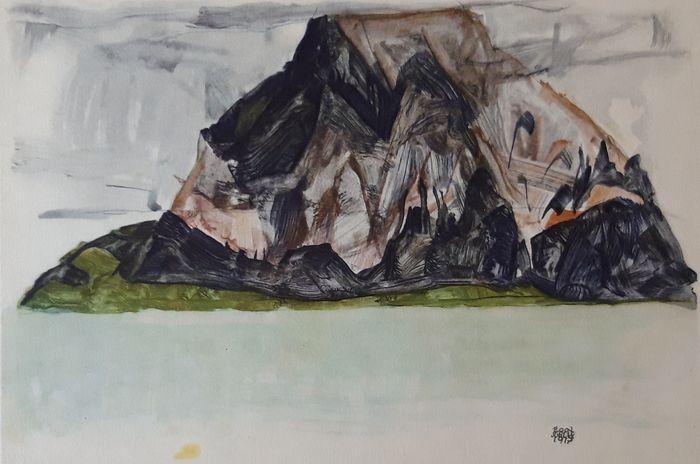 Egon Schiele Der Mittagskogel bei Villach 1917 Rotogravure Signed print Buy art Online Affordable art Europe Belgium Austria