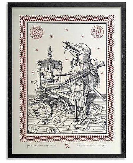Ravi Zupa - Bird Pot - Signed and numbered print