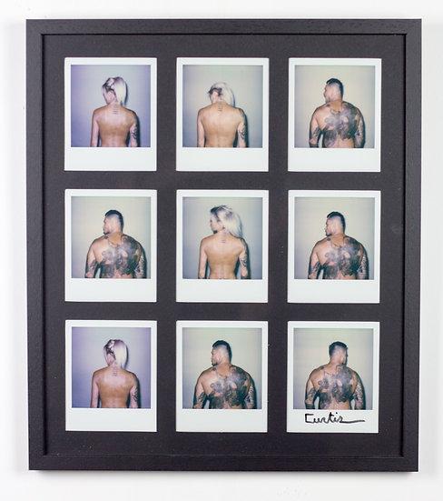 Curtiz Jack & Jill Series of Polaroids Hand Signed Tattoos Tattooed Kris De Meester Buy art Online Europe Affordable art