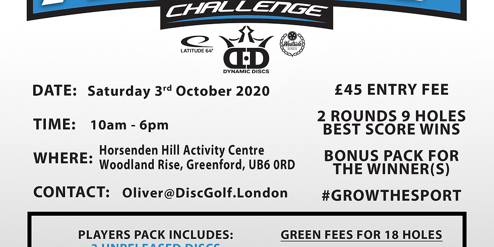 Horsenden Hill Trilogy Challenge Presented by London Disc Golf Community