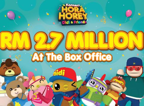 """Konsert Hora Horey Didi & Friends"" Smashed Malaysian Box Office By RM 2.7 Million"