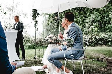 Veit Ebert mit Hochzeitspaar