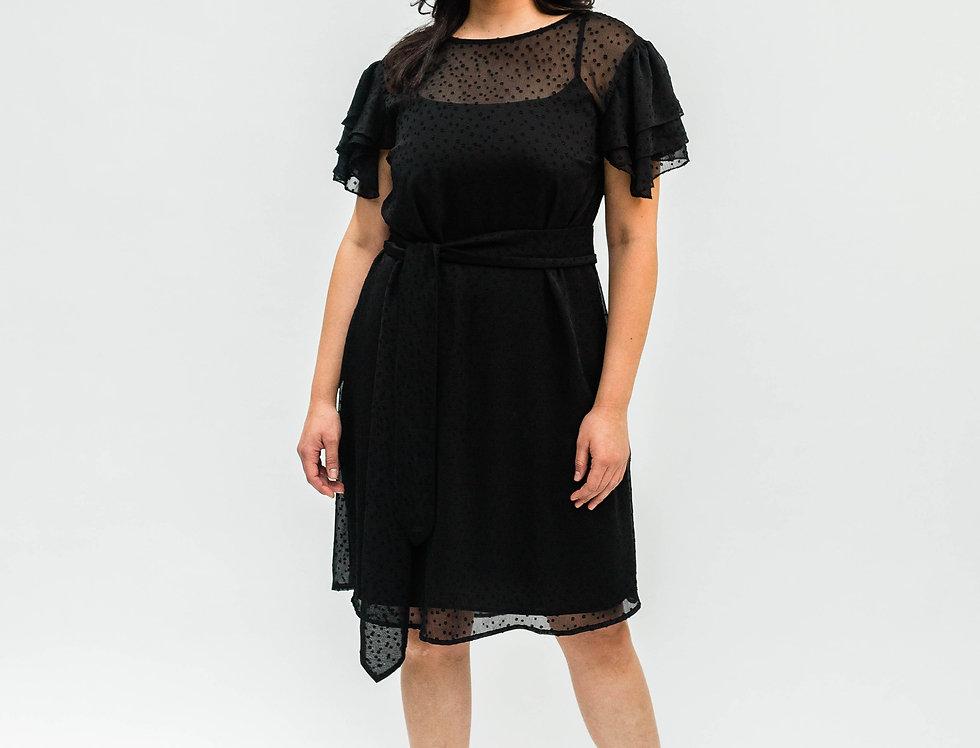 Flutter Dress Black