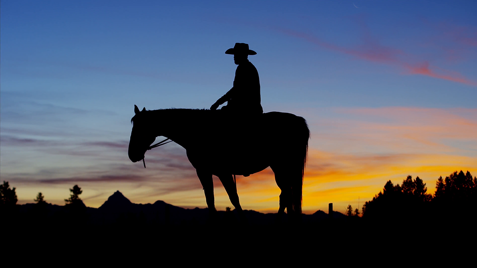 silhouette-of-cowboy-rider-at-sunset-wil