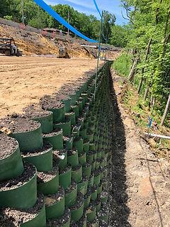 Roadway Stabilization Wall