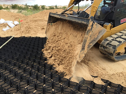 Base Stabilization with Sand Infill
